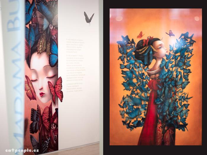 Entrada a la exposición y primer óleo de Madama Butterfly