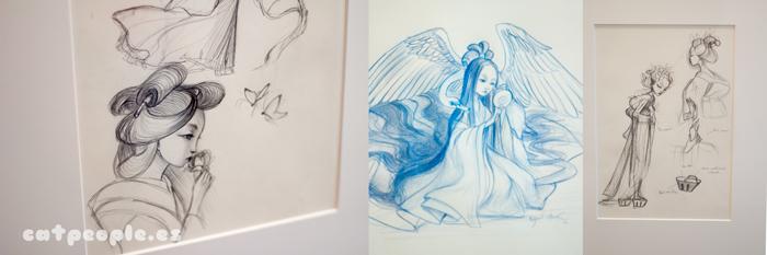 Bocetos e ilustraciones iniciales de Madama Butterfly