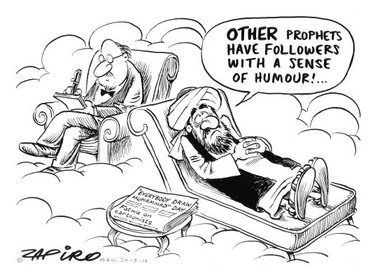 Zapiro - Other prophets have followers with a sense of humor