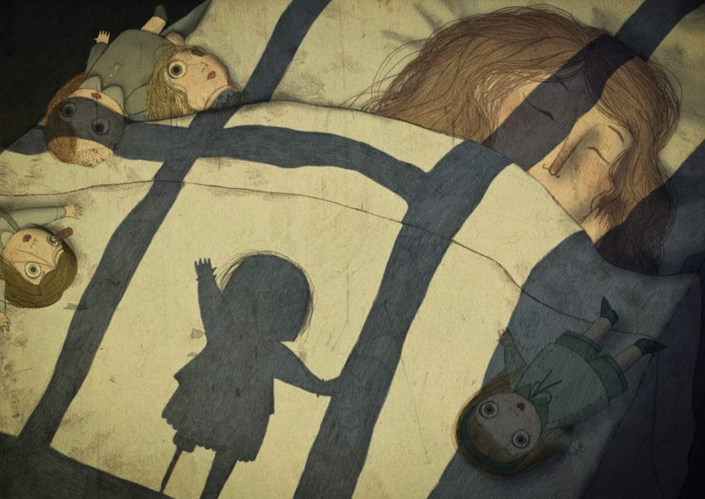Marta Sorte - Niña durmiendo con muñecas