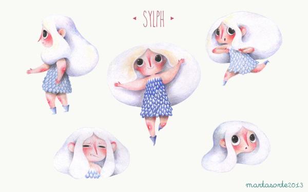 Sylph project book - White Girl Diseño de Personajes