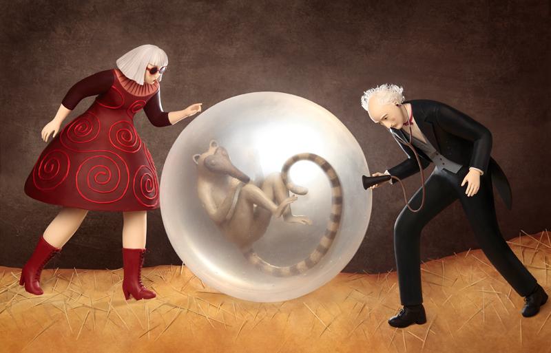 Irma Gruenholz - nacimiento animal y personajes