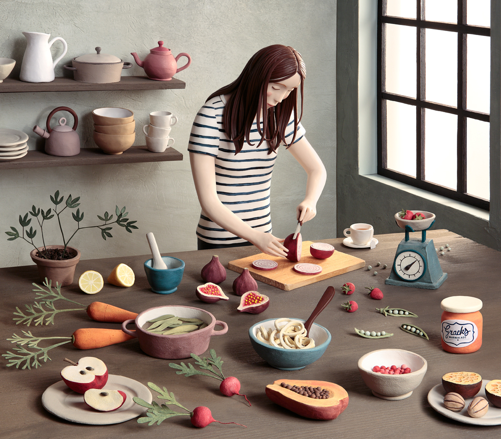Irma Gruenholz - Chica en la cocina