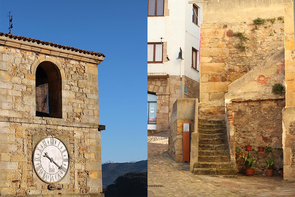Llastres reloj y escalera de piedra