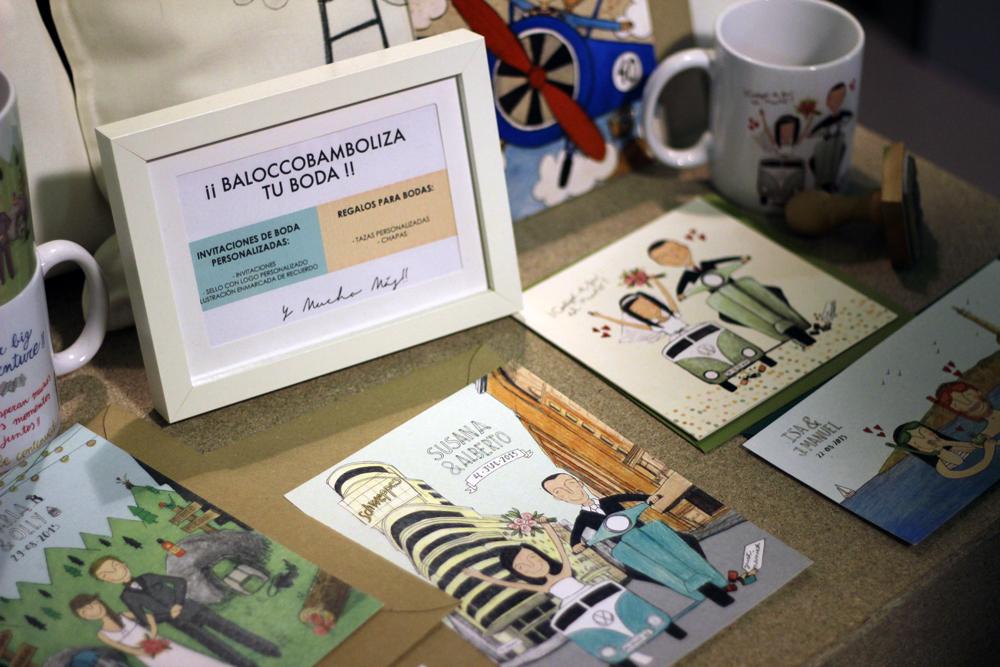 Balocco y Bambola en el Nómada Market Invitaciones personalizadas