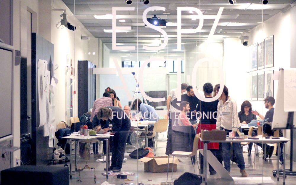 Taller de Arte Generativo y Movimiento en el Espacio Fundación Telefónica