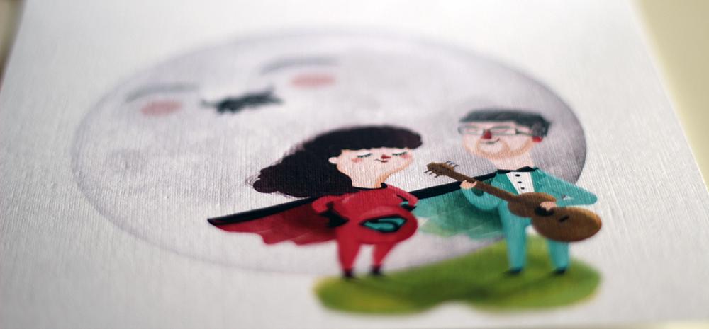 Invitación de Boda de Ernesto y Beatriz - Dibujo